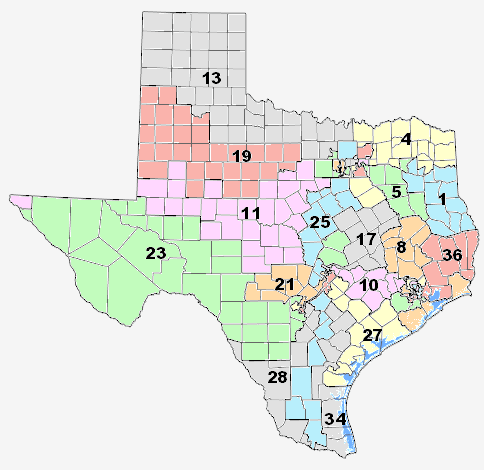 Texas Congressional Map For The 2012 Elections Texas Congressional District 25