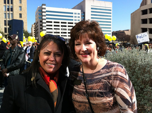 AB with Kyleen Wright of Texas for Life Coalition.jpg