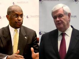 Cain - Gingrich in Blogger Room.jpg