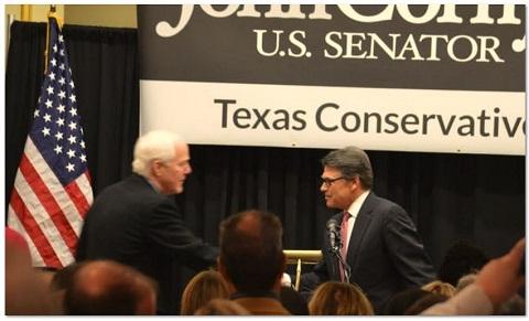 Rick Perry introduces John Cornyn