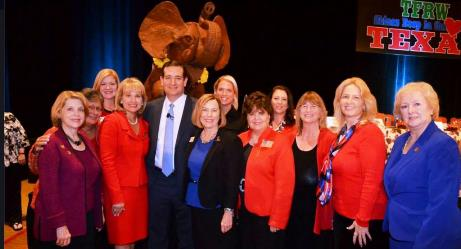 Sen. Ted Cruz with board of TFRW