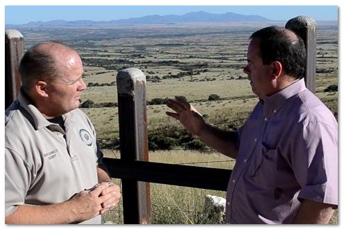Mark Dannels and Bob Price on the AZ border
