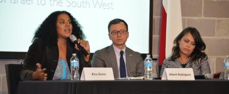 Kira Davis, Albert Rodriguez and Adryana Boyne