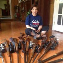 CD 34 Candidate Adela Garza with her guns