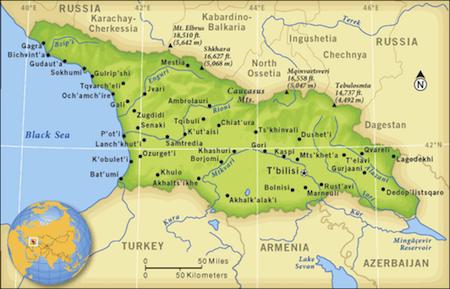 Map Of Republic Of Georgia.The Republic Of Georgia A Democracy In A Rough Neighborhood