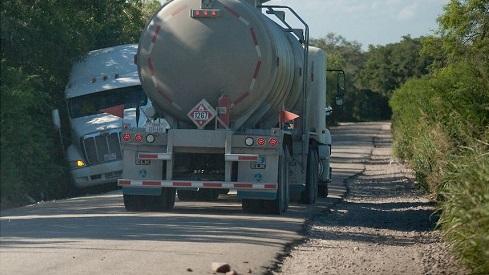 Combination of Heavy Trucks and Heavy Traffic Destroy Texas Roads