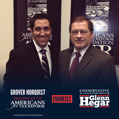 Glenn Hegar endorsed by Grover Norquist