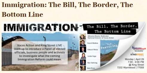 Immigration: The Bill, The Border, The Bottom LIne