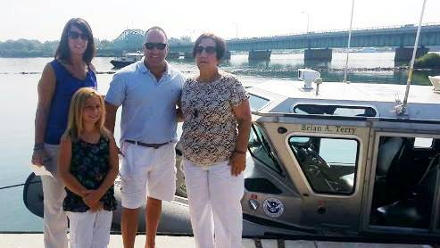 Brian Terry's Family at Boat Dedication
