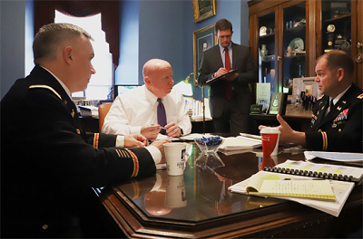 Kevin Brady talking to Army Corps