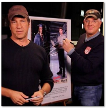 Mike Rowe with Glen Beck