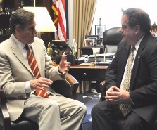 Congressman Mike Tuner (R-OH) meets with TexasGOPVote's Bob Price