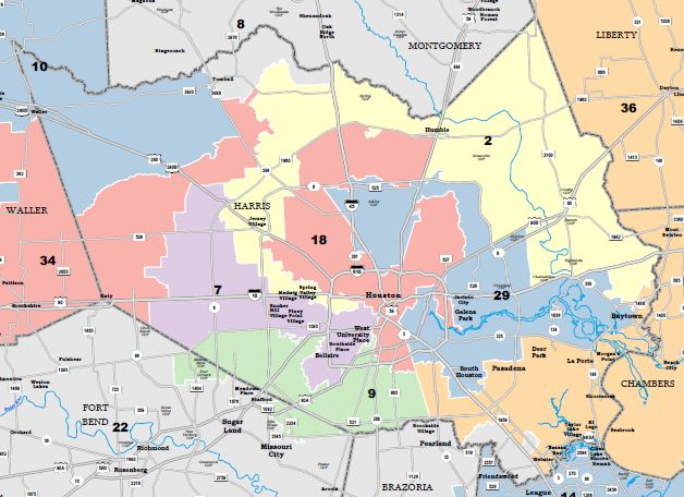 Map Of Texas Districts.Federal Judge Releases Proposed Congressional District Map For Texas
