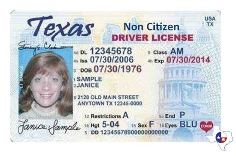 Non-Citizen Texas Drivers License