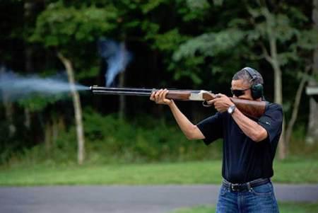 President Obama Shooting Skeet?