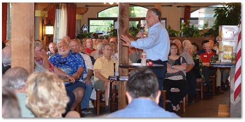 Congressman Ted Poe talks to Kingwood Tea Party in Houston