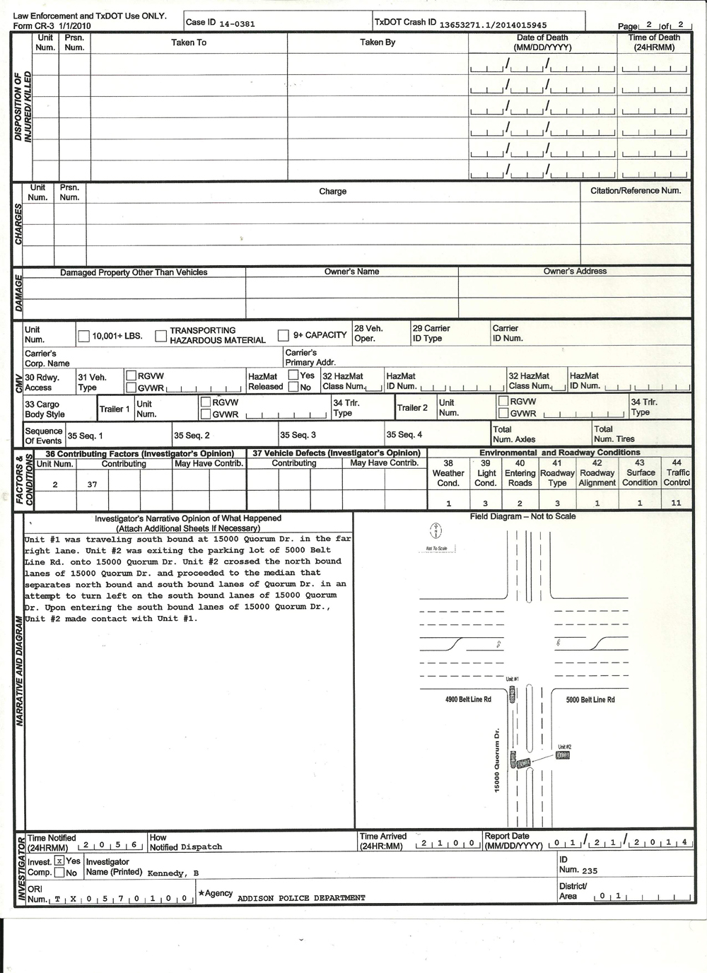 texas accident report