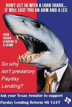 Why does Texas allow predatory payday lending without limits
