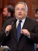 Texas Senator John Carona speaking on the floor of the Texas Senate