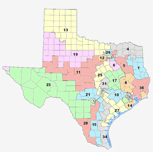 Court Releases Texas Interim Redistricting Maps See Them Here - Us house of representatives map by state