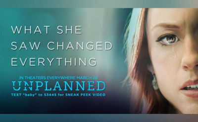 Unplanned movie banner