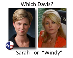"Which Davis?  Sarah or ""Windy"""