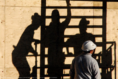 construction worker shadow
