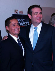 David Pineda and Ted Cruz