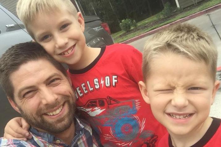 Josh Jaros and kids