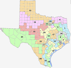 The Texas Legislature Finally Releases New Proposed Congressional - Map-of-us-voting-districts