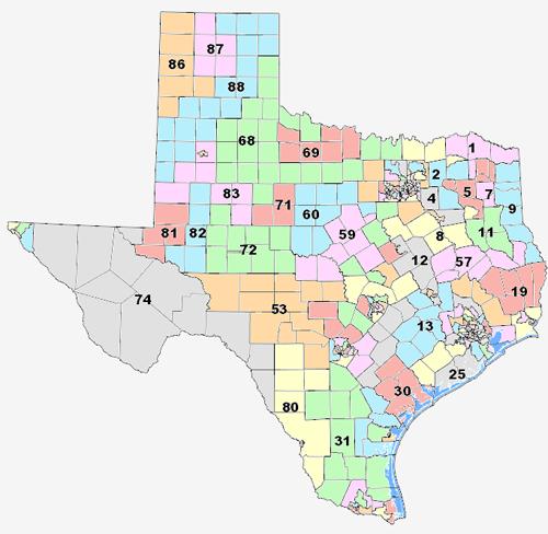 Us Representatives By State Map Globalinterco - Map of texas us house of representatives