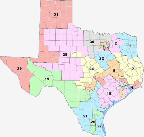 Texas Senate Map | Business Ideas 2013