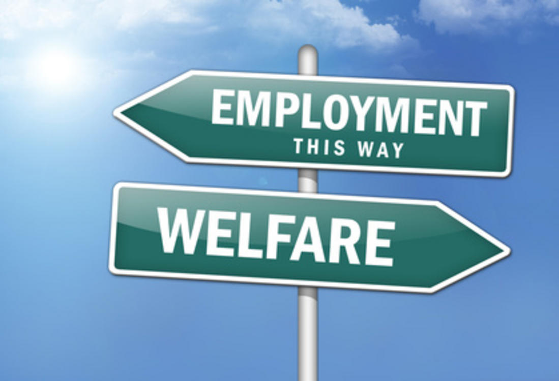 Welfare-Employment sign
